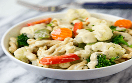 Baked Mixed Veg with Cheese